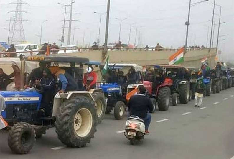 202101260729014084 Tractor rally in Delhi today Heavy police security in SECVPF 1